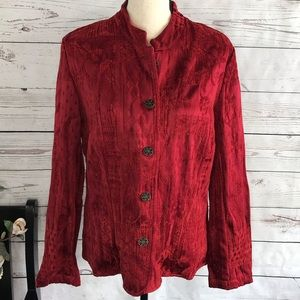 Dressbarn Textured Brocade Long Sleeve Jacket